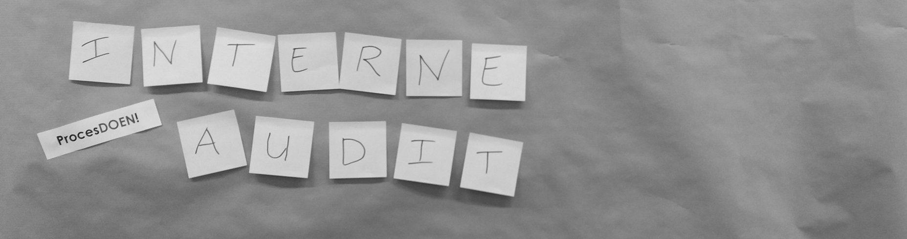Workshop – Interne audit met Brown Paper